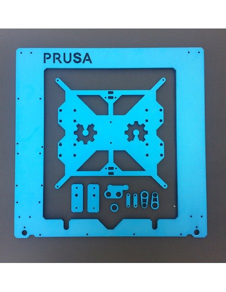 Marco aluminio PRUSA i3 ANODIZADO AZUL