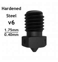 v6 Extra Nozzle - Hardened Steel - 1.75mm x 0.40mm